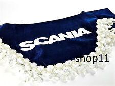 Scania Gardinen Frontscheibe Verzierung Scheibenborde Vorhänge blau weis gold