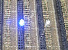 50 Blue Flash 3mm Blink LEDs Free Resistors