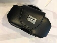 Nokia 2220s,2680,2720,2760 Leather Pouch - Mag Latch Flap & Belt Clip/Loop Black