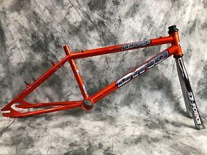 1995 Orange Dyno Nitro Old Mid School  BMX Framset Frame Fork Headset 4130 Cr-Mo