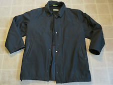 FIOCCHI Mix Italian JACKET Mens L Black Made In Italy Import Full Zipper Sleek