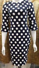 Phase Eight Katlyn 3/4 Sleeve Spot Dress Size 8