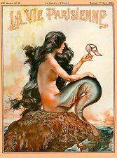 1920's La Vie Parisienne French Nouveau France Travel Advertisement Poster