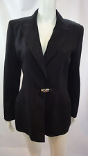 STATE OF CLAUDE MONTANA Black Lined Long Sleeve Blazer Pant Suit Size 10