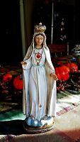"""Our Lady of Fatima Statue 12""""Indoor Outdoor Resin Beautiful."""