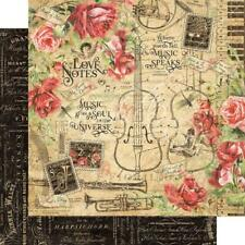 """Graphic 45 Love Notes - LOVE NOTES - 12x12"""" D/sided Scrapbooking Paper"""