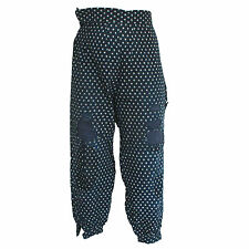 VINTAGE BORO PANTS mended ikat polka dot trousers 1920s Japan japanese indigo
