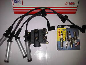 FORD FIESTA MK6 1.3 1.3i NEW IGNITION COIL PACK + SPARK PLUGS & HT LEADS 2003-05
