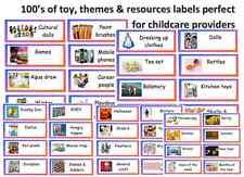 Childminder Toy Box risorsa etichette ideale per i giocattoli giochi risorse temi ETC