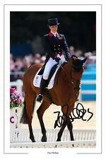 ZARA PHILLIPS EQUESTRIAN AUTOGRAPH SIGNED PHOTO PRINT
