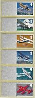 2017 BLANK POST & GO MAIL BY AIR STRIP OF 6 STRIP UNDATED MNH