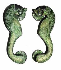 A pair of Attractive Brass made Unique & Lovely PEACOCK SHAPE DOOR HANDLES