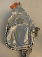GIRLS SILVER IRIDESCENT STAR SLING BAG