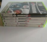 Madden NFL xbox 360 Games (LOT of 5) Years included are 07, 08, 09, 11 and 12