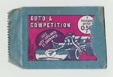 1970s Americana Munich Munchen Opened Packet Wrapper Motor Racing French Version