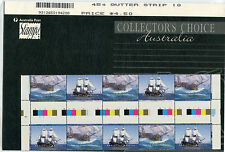 1994 45c Endeavour Se-tenant Gutter Strip of 10 Collector's Choice MUH Stamps