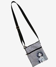 Disney Loungefly Jasmine Aladdin Passport Crossbody Purse Bag Grey New