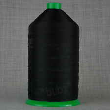 BLACK STRONG BONDED NYLON 20s HUGE 3,500m HEAVY DUTY LEATHER CRAFT REPAIR 20 TKT