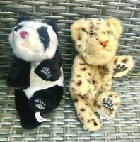 2 x WowWee Alive Newborn Baby Cubs PANDA And LEOPARD Interactive Electronic Pet