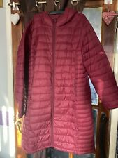 Ladies Quilted Lightweight Puffer Long Coat Jacket plus Size 18 20