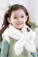 Cute Baby Boys Girls Kids Winter Soft Warm Fleece Flower/Bear Scarf Neck Warmers