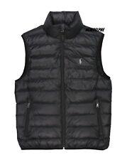 Ralph Lauren Polo Mens Pony Logo Down Puffer Vest Jacket Navy/black Black L