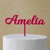 Custom Name Cake Topper, Personalised Single Name, Acrylic, Lasercut Font 2