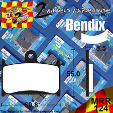 BENDIX 124-MRR ROAD RACING TRACK DAY FRONT BRAKE PADS VICTORY 1731HAMMER 2009