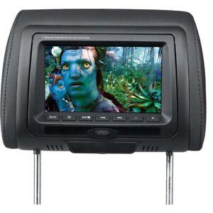 7 inch Headrest DVD player Black USB SD IR FM 2pcs one pair