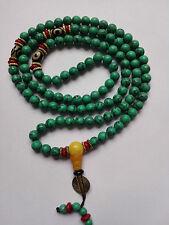 Tibet tibetan turquoise buddhist buddha prayer bead mala bracelet Dzi eye..