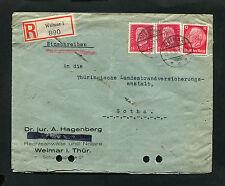 Dt. Reich Reko Brief aus Weimar  1933   (NO-161)