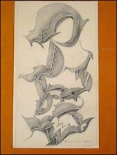 Fritz Klee original Pastell Zeichnung v.1954 /31,5x18cm