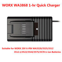 WORX WA3868 1-hr 20V 6-PIN POWERSHARE Li-ion Battery Quick Charger (AC 100-240V)