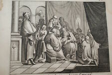 GRAVURE SUR CUIVRE CIRCONSITION JESUS CHRIST-BIBLE 1670 LEMAISTRE DE SACY (B182)