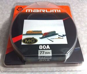77mm Marumi Japan Multi-Coated 80A 80-A Balancing Blue Glass Lens Filter 77 mm