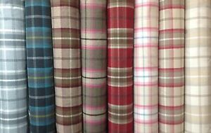 Porter+Stone Tartan Plaid Check BALMORAL Wool Effect Upholstery/Curtain Fabrics