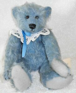 """Vintage Mohair Country Bear Express """"Lil Blue"""" Sharon Coen"""