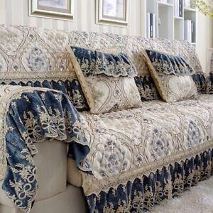 Jacquard Luxurious Sofa Couch Cover Sofa Cushion Lace Antiskid Sofa Towel Set
