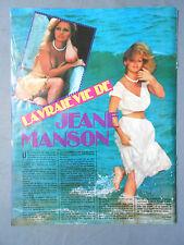 ►CLIPPING - COUPURE DE PRESSE : JEANE MANSON