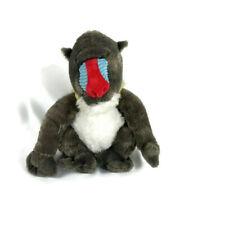 "Fiesta Sitting Mandrill Gray Monkey Plush Stuffed Animals 12"" Tall"