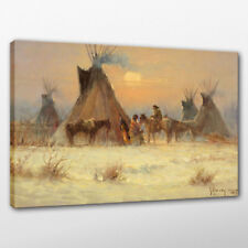 Canvas Oil Painting G. Harvey Indian Residence Print Home Wall Art Decor 24x32