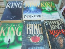 5 x steven king paper back books