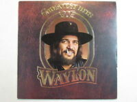 WAYLON JENNINGS GREATEST HITS PROMO LP EMBOSSED COVER OUTLAW COUNTRY AHL1-3378