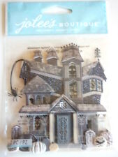 Jolee's Boutique 3D stickers - Black & White Haunted House - Halloween