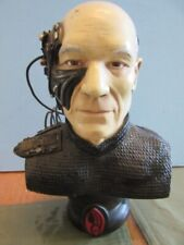 """Star Trek LOCUTUS Of BORG 8.5"""" Porcelain PICARD BUST - LIMITED Edition - Loose"""