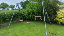 TP Toys Triple Swing Metal Frame with 2 Swings & Trapeze Rings