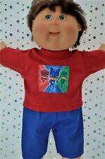 """PlaynWear Boy Dolls Clothes For 16"""" Cabbage Patch ROYAL BLUE DRILL PANTS~T-SHIRT"""