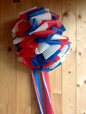"Patriotic RED, WHITE, BLUE RIBBON BOW ~ Weatherproof ~ 12""~ Support Our Troops"