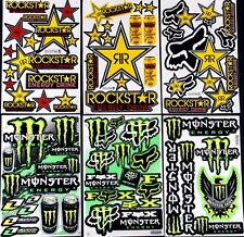 6 stickers decal Rockstar quad Energy Motocross drink MX skateboard BMX Bike ZZB
