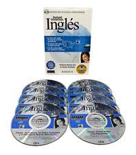 Inmersión instantánea Aprenda a hablar INGLES - Español a inglés - 8 CD de audio